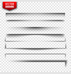 shadows set page dividers on transparent vector image
