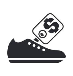 shoe price icon vector image