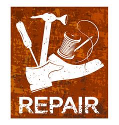 Shoe repair poster vector
