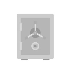 steel safe icon flat style vector image