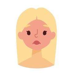 Sunburn girl face vector image