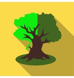 Thick tree icon flat style vector image