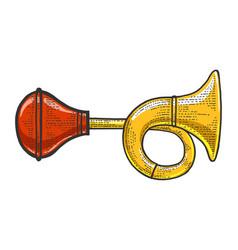 Vehicle horn sketch vector