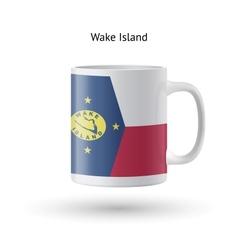 Wake island flag souvenir mug on white background vector