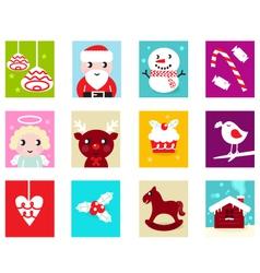 christmas advent calendar elements 2 vector image