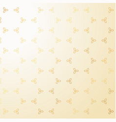 cute golden small flowers decoration pattern vector image vector image