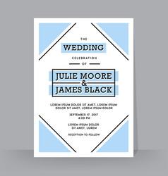retro wedding invitation template tradition vector image
