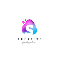 s letter dots logo design with oval shape vector image