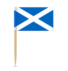 scotland flag toothpick 10eps vector image vector image