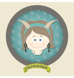 Zodiac signs collection horoscope - capricorn vector image vector image
