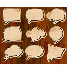 Aged speech bubbles vector image vector image