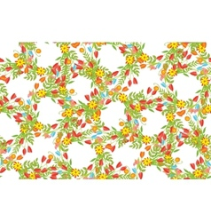 Floral Frame of cute retro flowers vector image