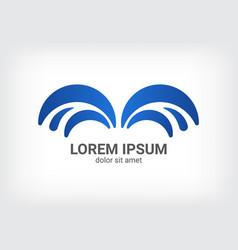 fountain blue logo design template vector image vector image