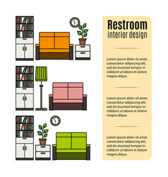 Furniture for restroom infographic vector