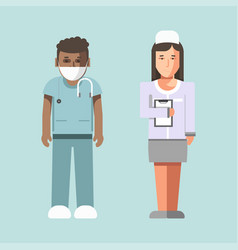 medical workers or hospital doctors man physician vector image