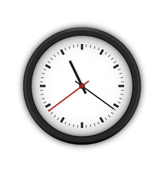 Simple round wall clock vector image vector image