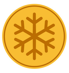 snowflake gold coin vector image