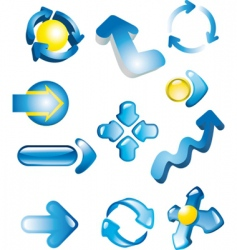 icons arrows vector image