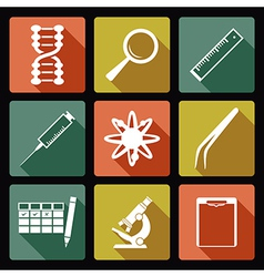 Sciense flat icons vector image vector image
