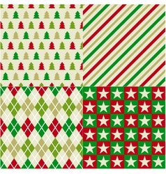 seamless christmas background vector image vector image