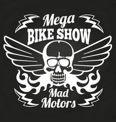 vintage motorbike show emblem vector image