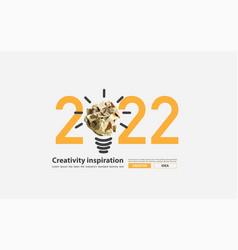 2022 new year creativity inspiration vector