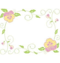 A floral framework decorative pansies vector