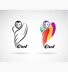 an owls design on white background bird icon wild vector image