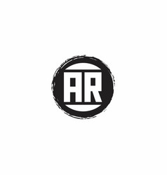 Ar logo initial letter monogram with abstract vector