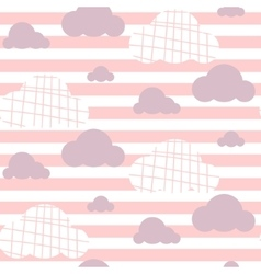 Baby girl seamless pattern Light pink fun vector