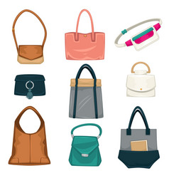bags and rucksacks fashion for women styles vector image