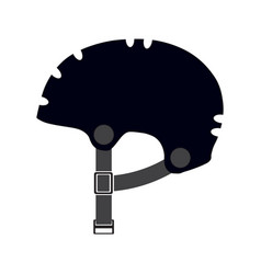 bicycle helmet isolated on a white background vector image