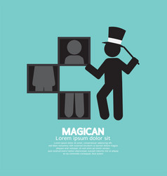 black symbol graphic of magician vector image
