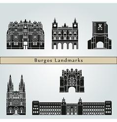 Burgos landmarks and monuments vector image