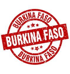 Burkina faso red round grunge stamp vector