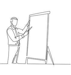 Business training concept one continuous line vector
