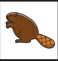 Canadian beaver isolated canada traditional vector