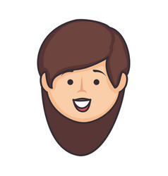 cartoon woman icon vector image