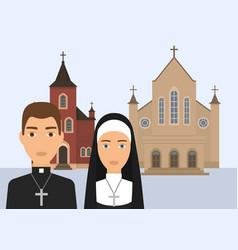 Catholic religion pastor vector