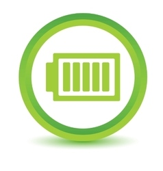Charged battery volumetric icon vector