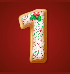 Christmas cookies numbers vector