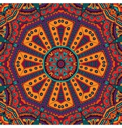 colorful floral ethnic tribal pattern vector image