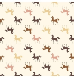 Colorful Seamless Pattern with Horse vector image