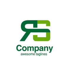 Creative initial letter rs logo concept ele vector