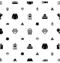 Decoration icons pattern seamless included vector
