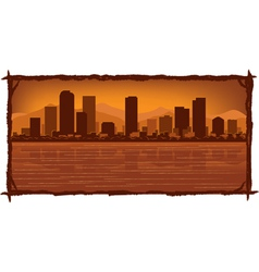 denver skyline vector image