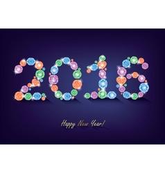 Diamond New Year 2016 vector image