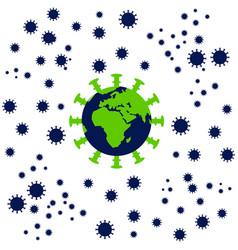 Earth global fight againts coronavirus vector