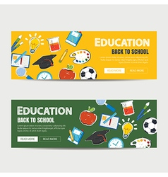 education banner and back to school template vector image vector image