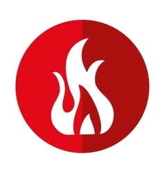 fire flame burn hot design shadow vector image